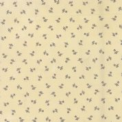 Moda Atelier by 3 Sisters - 3562 - Floral Shirtings, Charcoal on Cream - 44058 16 - Cotton Fabric